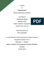 A Report on ResturantIR6