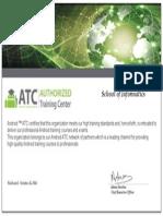 School of Informatics_Certificate