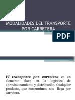Modalidades Del Transporte Por Carretera