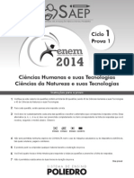Enem Ciclo 1 Prova 1 - 2014 - Gabarito