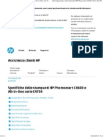 Specifiche delle stampanti HP Photosmart C4600 e All-in-One serie C4700  Assistenza clienti HP®