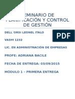 Tp 1 Seminario de Planificación y Control de Gestión