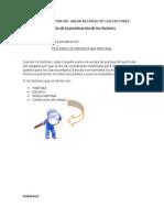 Determinacion Del Valor Relativo de Los Factores