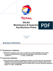 Maint-Insp SALSA Key Business Points
