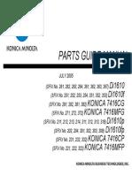 konica Minolta Di 1610p Parts Manual