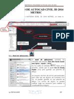 Entorno de Autocad Civil 3d 2014 y Diseño de Alineamientos
