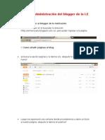 Manual de Administración Del Blogger