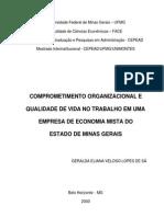 Comprometimento Organizacional e QVT