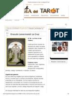 Oraculo Lenormand_ La Cruz - La Magia Del Tarot