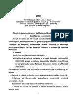 Ghidul Documentelor Emise de Ministerul Sanatatii Ce Se Depun Si Se Elibereaza Prin Directiile de Sanatate Publica
