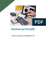 Control Dirección y PWM Motor DC NI