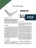 Stereolitografie
