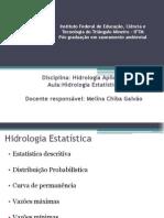 Aula Hidrologia Estatística