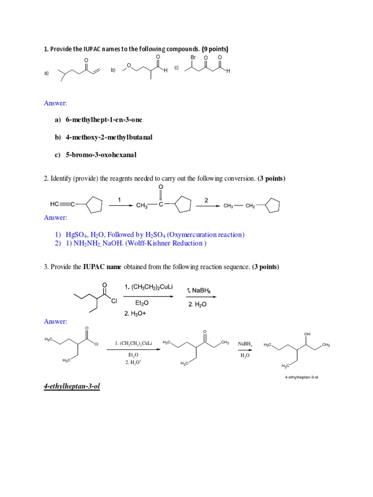 20 Reactions Chemistry | Aldehyde | Organic Reactions
