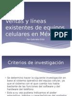 Ventas y Líneas Existentes de Equipos Celulares matriz de evaluacion BCG