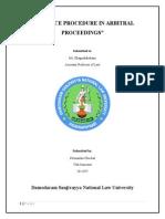 Evidence procedure in arbitrary proceedings