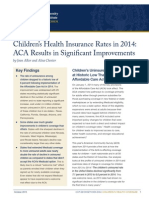 Child Uninsurance Rates 2014 ACA