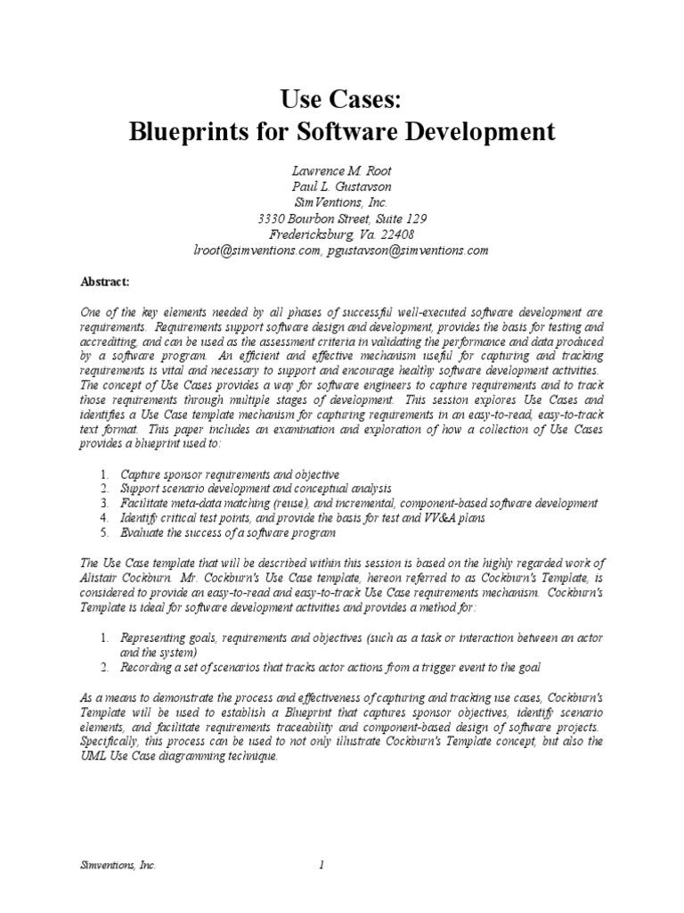 Blueprints for software development use case conceptual model malvernweather Choice Image