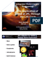 06-Iw14-Mbse Workshop-Application of Mbse at Jpl Through the Lifecycle-nichols-lin-final