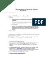 Infiintarea Unui Cabnet Medical