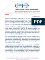 Global Action For Burma on United Nation Security Council