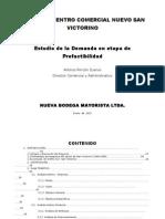 Proyecto CC San Victorino- Estudio de Demanda