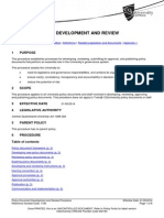 Policy Document Policy Document Development Development and Review Procedure