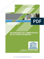 Competencias TIC Docentes UNESCO
