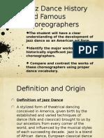 Jazz Dance Slide Show