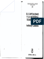 Giddens a 1994 El Capitalismo y La Moderna Teorc3ada Social Max Weber3