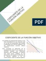 Coeficiente de La Función Objetivo