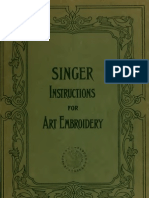 (1911) Singer Instructions for Art Embroidery