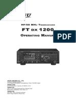 FTDX1200 Manual