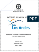 Informe Tecnologias de La Informacion CAJA LOS ANDES