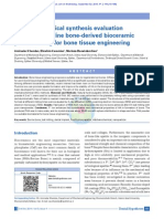 Mechanochemical synthesis evaluation of nanocrystalline bone-derived bioceramic powder using for bone tissue engineering