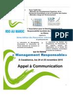 Appel a Communication Congrés 24 Et 25 Novembre 2015 v.040915