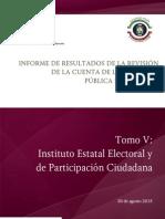 Tomo V Instituto Estatal Electoral y de Participación Ciudadana.