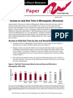 Analysis of paid sick time in Mpls