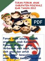 Pembentukan Forum Anak Kab.polman
