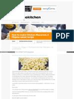 Www Myfilipinokitchen Com How to Make Chicken Macaroni a Fil