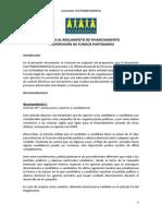 Aportes Reglamento de Financiamiento y Supervision de Fondos Partidarios.