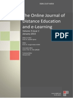 The Online Journal of Distance Education and e‐Learning