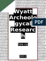 Wyatt Archeologycal Research