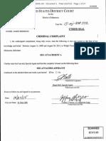 U.S. District Court criminal complaint against Daniel James Heinrich