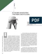 AUTONOMÍA UNIVERSITARIA Y REFORMA CONSTITUCIONAL