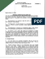 DCH Complaint Against Tedi Hedstrom