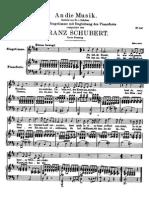 Franz Schubert - An die Musik for High Voice