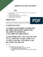 El Aspecto Organico de La Obra Salvadora de Dios - WL