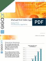 iPad and Web Tablet App Forecast