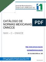 Catálogo de Normas Onncce 2015